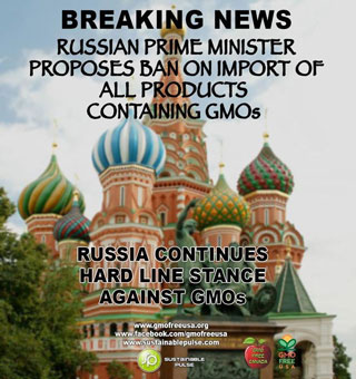 Russia joins more than 30 other countries that have banned the import of GE crops and despite the harms of GE crops, giant biotech is pouring thousands of dollars to defeat GMO labeling in Oregon County