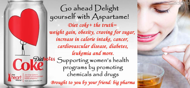negative effects of the use of aspartame and other artificial sweeteners in diet drinks All in all, you may want to rethink that diet soda and other food products that contain aspartame and artificial sweeteners in general as they may be causing you to put on weight vs taking it off as they have the ability to increase your food cravings and could possible be effecting your blood sugar readings.